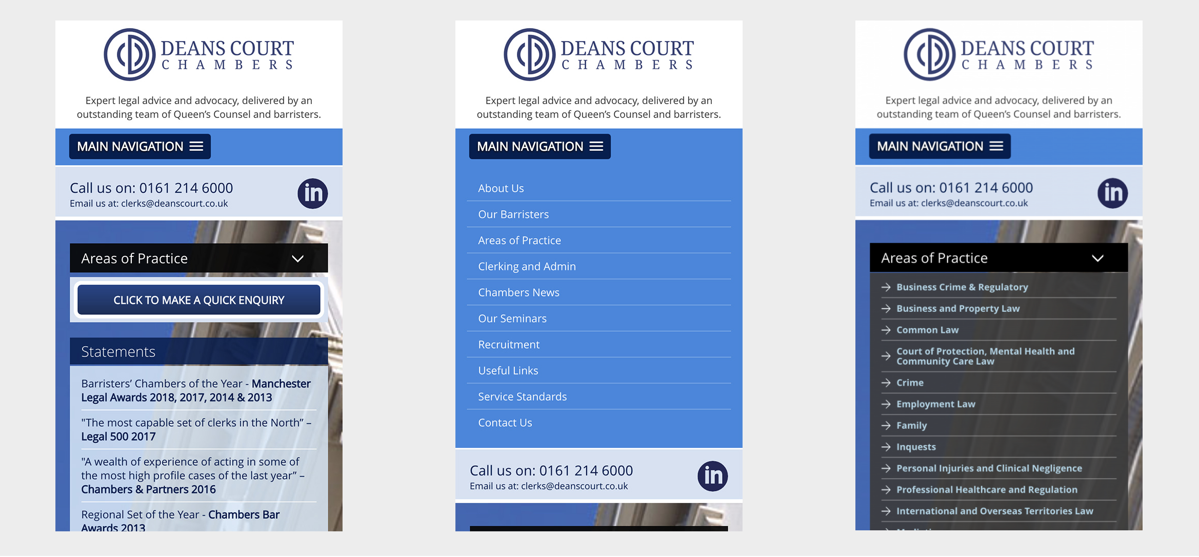 Deans Court Chamber mobile